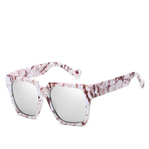 Stilvolle polarisierte Sonnenbrille Kunststoff Blume Brille Großhandel Retro Sonnenbrille Farbe Sonnenbrille Sonnenbrille Unisex Männer und Frauen Fahrerschutz für Männer ( Farbe : White flower )