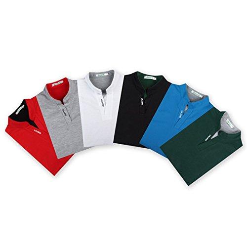 LIANIHK Herren Poloshirt Hemd kurzarm Basics Atmungsaktiv Multi-Color T-Shirt Casual Shirt Tees Blau