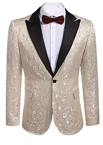 60f7dfb8c Banbie Herren Floral Party Dress Suit Stilvolle Dinner Jacket Hochzeit  Blazer für Casual Business formelle Anlässe