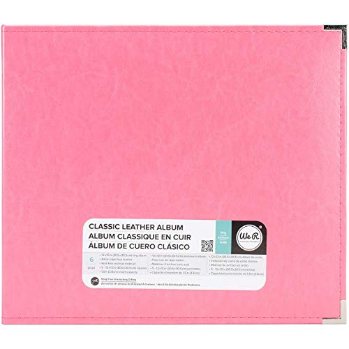 Memory Album Scrapbooking (We R Memory Keepers American Crafts 660902Classic D-Ring Scrapbooking Album, 12Zoll x 12Zoll, Erdbeere)