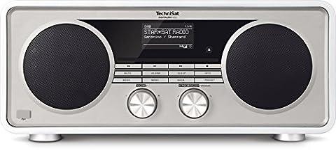 TechniSat Digitradio 600 - Stereo-Radio mit Subwoofer (CD-Player und Multiroom Audio-Streaming, WLAN, Bluetooth, Spotify Connect, Steuerung per App, USB, UPnP Audio-Streaming, 70 Watt RMS) weiß