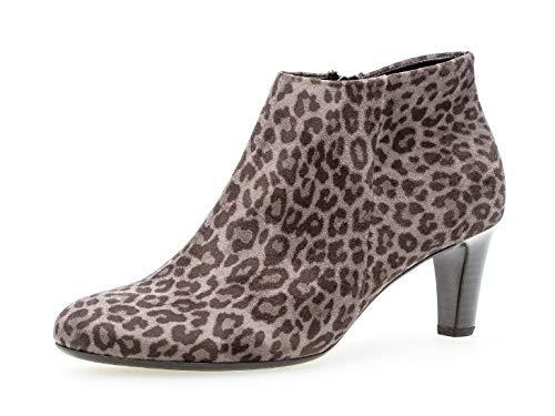 Gabor Damen Stiefelette 35.850, Frauen Ankle Boots,Stiefel,Halbstiefel,Bootie,knöchelhoch,Reißverschluss,anthrazit,37 EU / 4 UK