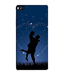 FUSON Designer Back Case Cover for Huawei P8 (Family Friends Happiness Together Sister )