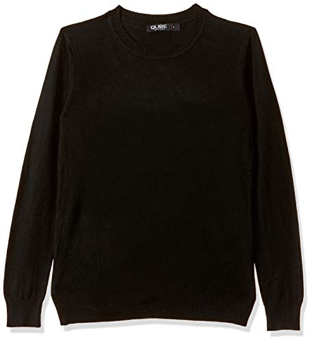 Qube By Fort Collins Women's Sweater (CH101_Black_L)
