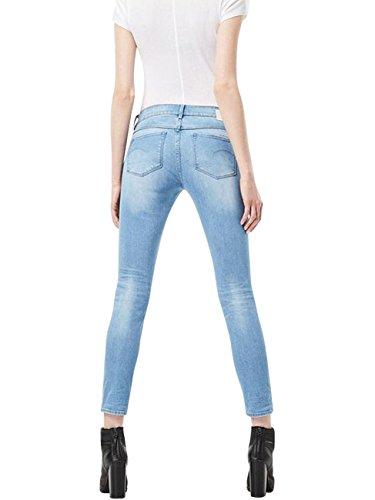 G-Star Damen Jeans 3301 Contour High Waist Skinny Fit - Blau - Medium Aged Light Aged (424)