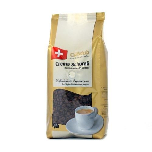 Cafeclub Supercreme Schweizer Schümli Kaffee Bohnen 8kg (8x1kg)