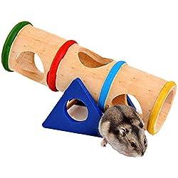 Da. WA hámster juguete de balancín de madera pequeños animales actividad juguete