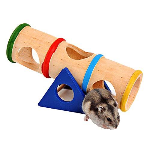 Da. WA hámster juguete de balancín de madera pequeños...