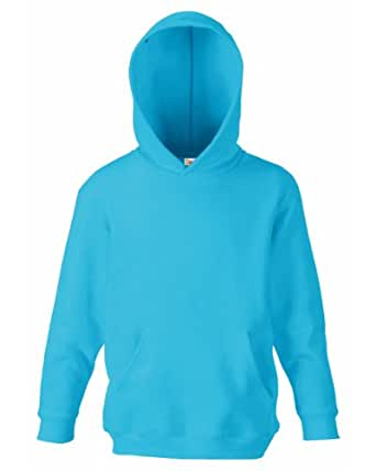 Fruit Of The Loom Kids Childrens Hoodie Hooded Sweatshirt Azure Blue 5-6 Years