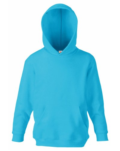 Fruit Of The Loom Kids Childrens Hoodie Hooded Sweatshirt Azure Blue 12-13 Years