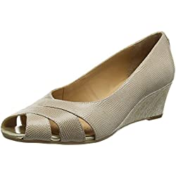 Van Dal Damen Paxton open toe wedges, Beige (Pulver), 42 EU
