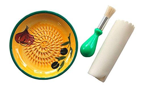 JOSKO Produkte 2722 Aroma Reibeteller Set Reibeteller Set, 3 Einheiten, keramik, gelb, 12,8 x 12,8 x 2 cm