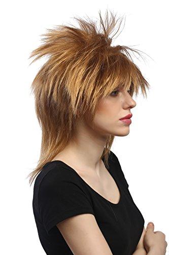 (WIG ME UP - DH1190-K27 Perücke Damen Herren Halloween Karneval auftoupiert Wave Punk 80er Hardrock Pixie Blond)