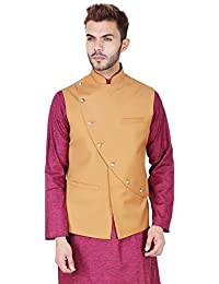 Amazon In Yellow Nehru Jackets Ethnic Wear Clothing Accessories