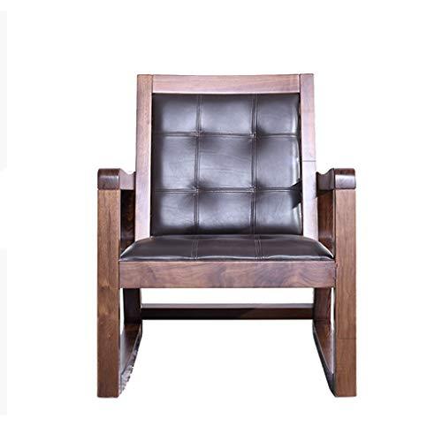 HYYTY-Y Einzelsofa Schaukelstuhl, Massivholz Lounge Chair (100% Reine nordamerikanische Schwarze Walnuss) 621-YY -