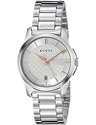 Gucci Damen-Armbanduhr G TIMELESS Analog Quarz Edelstahl YA126523