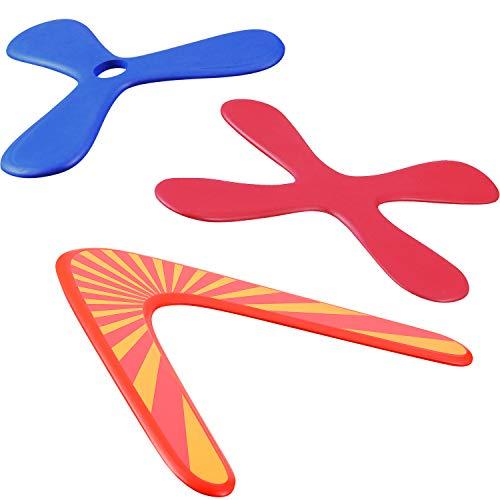 Tatuo 3 Set Bumerang, Wood Boomerangs und Soft Boomerang für Sportler, für Sportspielzeug für Anfänger, Junge Werfer (Anzug für Kinder über 12 Jahre und Spiel mit der Aufsicht der Eltern)