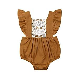 HEETEY Pijama para niña, para bebé, Hermana, niña, con Cuello de Pico, sin Espalda, para niños pequeños, 0 – 24 Meses 7