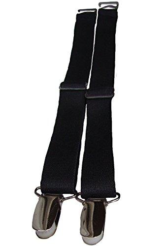 Preisvergleich Produktbild Strapse Halter Strumpfgürtel Metall Hosenträger Clip 1 Paar zum einhängen an Korsagen Korsett Corsagen schwarz Harken Gurte