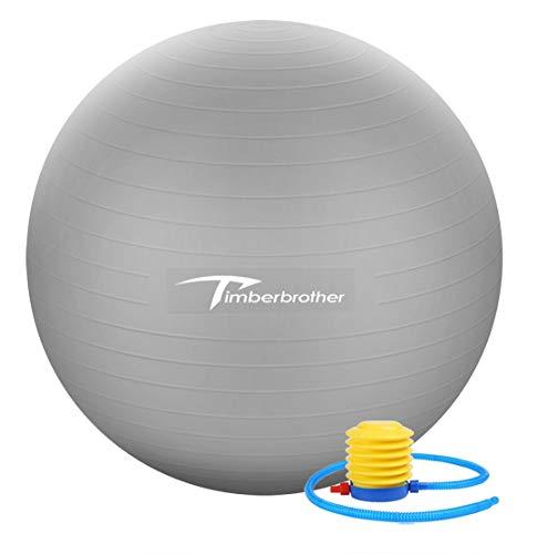 Timberbrother Palla da Ginnastica / Palla Fitness 65cm Diametro con la Pompa per lo Yoga, Pilates,...