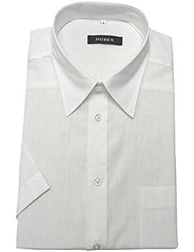 HUBER - Camicia Casual - Basic - Classico - Maniche lunghe - Uomo
