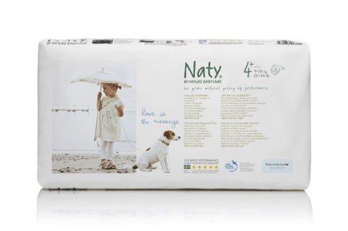 Nature Babycare Couches Écologiques Jetables Pack Economique - Taille 4+ Maxi Plus 9-20 kg - pack de 44 couches