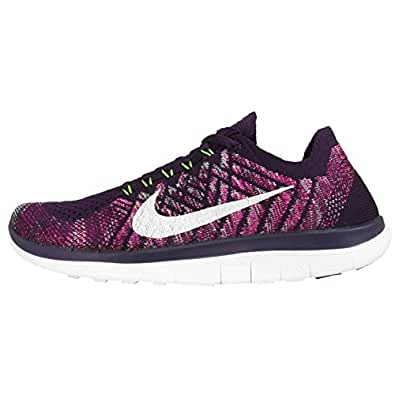 detailed look 5ff93 5cb36 Womens Nike Free 4.0 Flyknit Grand Purple Trainers 717076 502 UK 4.5 EUR 38  US 7  Amazon.co.uk  Shoes   Bags