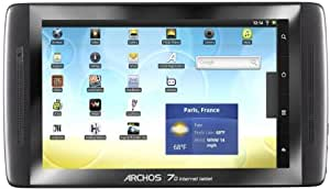 Archos 7.0 17,8 cm (7 Zoll) Tablet-PC (ARM Cortex Prozessor, 1 GHz, 250 GB HDD, WiFi, kapazitives Display, Multitouch, Android 2.2) schwarz