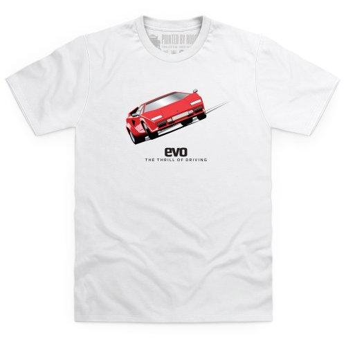 evo Countach Super Car T-Shirt, Herren Wei