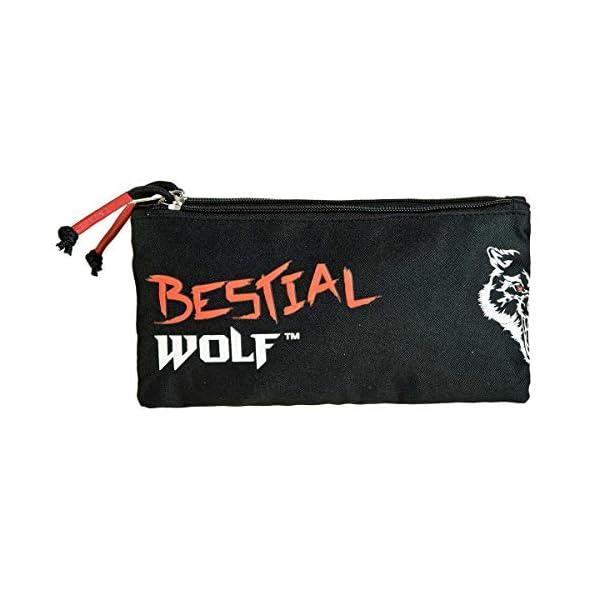 Dis2 – Estuche Escolar Triple Bestial Wolf Dis2 Negro