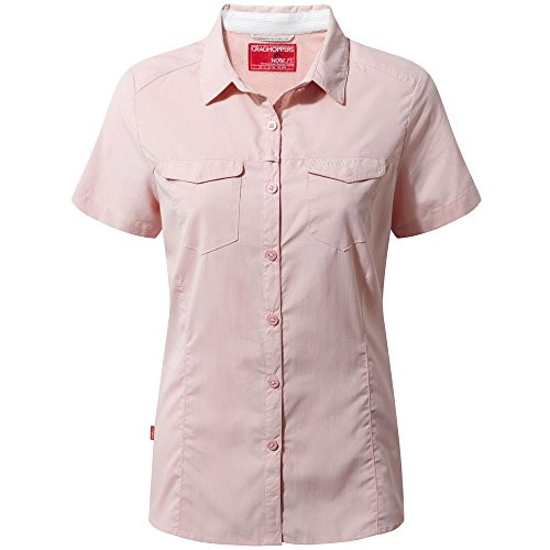 Craghoppers NosiLife Adventure Kurzarm Bluse Women - Outdoorbluse Blossom Pink