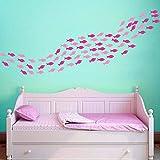 LTTGG 76 peces, escuela, 2 colores, papel tapiz desmontable, sala de niños