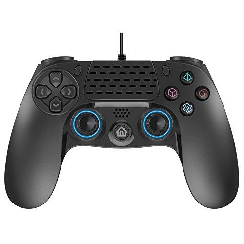 Draht PS4Controller, Dual Vibration USB Wired PS4Fernbedienung Controller Joystick Gamepad mit 2,5Meter (8Füße) Kabel für Sony PS4/Playstation 4PS4Pro/PS4Slim/PS3/PC Plattform Game Controller (Playstation 4-draht-controller)