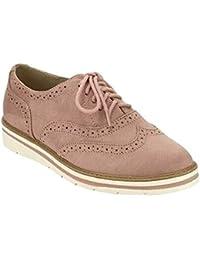 d291473a Zapatos de Cuero Casual Mujer Zapatos Planos con Cordones Mujer Oxford  Vestido Mocasines Zapatos de Negocios