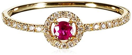 Tous mes bijoux anillos Mujer oro amarillo 9 k (375) rubí