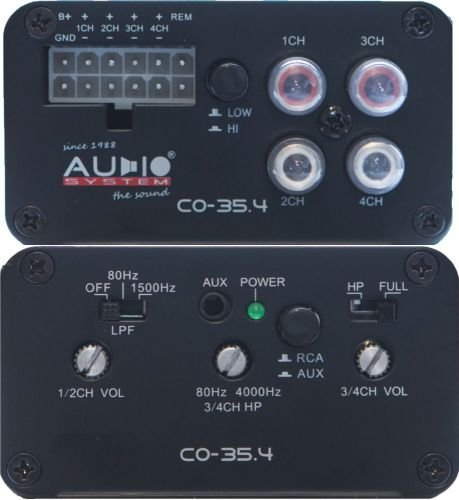 Audio System CO 35.4 - 4 Kanal Car Hifi Verstärker, 4 x 35 WRMS an 4 Ohm 300w Car-audio