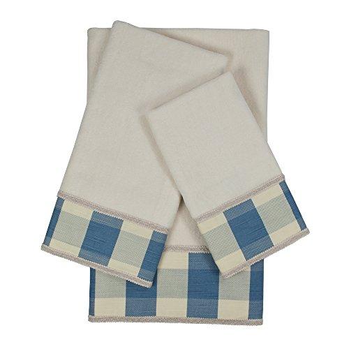 Sherry Kline Holbrook Gimp B verziert Handtuch-Set, Blau