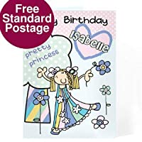 Personalised Bang On The Door Pretty Princess Card