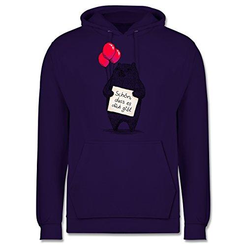 Statement Shirts - Schön, dass es dich gibt - Männer Premium Kapuzenpullover / Hoodie Lila