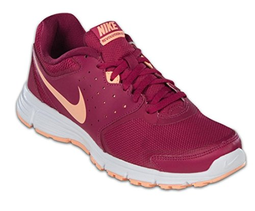 Nike wmns revolution eu scarpe da corsa, rosa/bianco/arancione, rosa (pink), 37.5