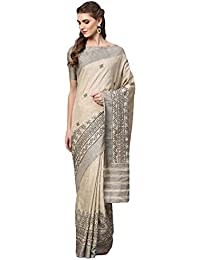 2c99c83b66f39 Inddus Grey Art Silk Printed Saree With Blouse Piece.