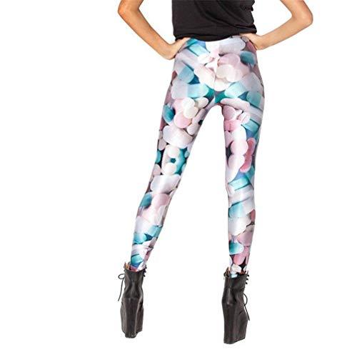 Ulq.j pantaloni sportivi con stampa push up fitness stampati in 3d per donna pink xxxl