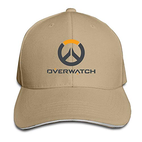 Overwatch Multiplayer Logo Solid Colors Hat Sandwich Bill Hat Bmw-sandwich-cap
