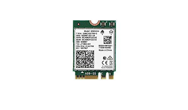 NGFF M.2 1.73Gbps 2.4G + 5G Intel Dual Band wireless Bluetooth Scheda di rete Scheda WIFI per PC / Laptop