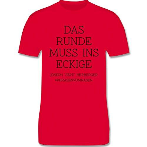 EM 2016 - Frankreich - Das Runde muss ins Eckige - Herren Premium T-Shirt Rot