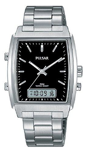 da052c199 Pulsar Hombre Reloj de Pulsera analógico – Digital Cuarzo Acero Inoxidable  pbk031 ...