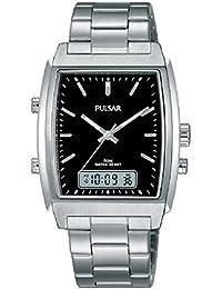 Pulsar Herren-Armbanduhr Analog - Digital Quarz Edelstahl PBK031X1