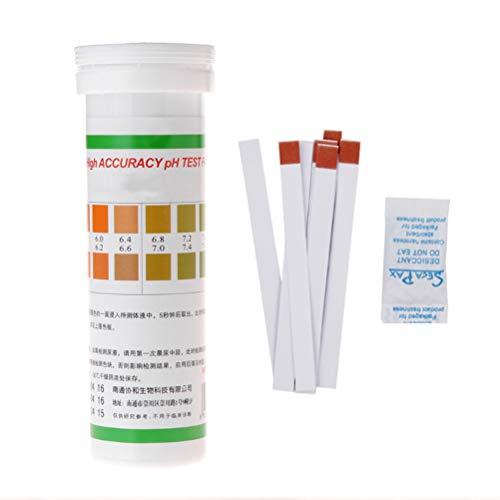 FMXYMC Hochpräzises PH-Testpapier Speichelstreifen Wassertest Alkalisäureanzeige Für Lebensmittel, Flüssigkeiten, Urin und Boden