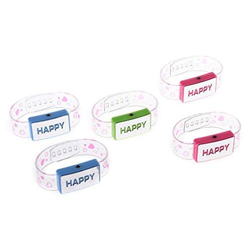 band Neuheit LED Fashion Armband Light-up Spielzeug Flash Armband Kinder Party Konzert (1) ()