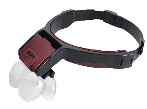 Kopf-montierte Lupe Reparatur Lesen Nah-Abstand Mehrzweck-Lampe ()